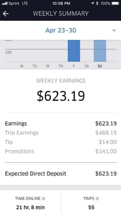 Earnings Screenshot 2