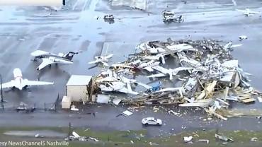 Nashville Airport Hammered by Tornado