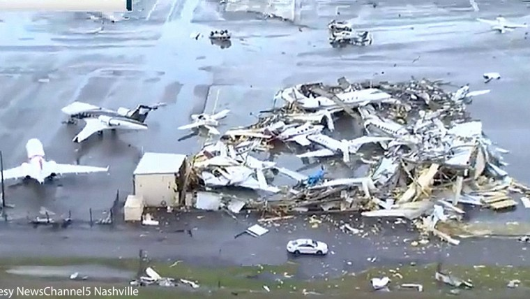 Nashville Airport Hammered by Tornado