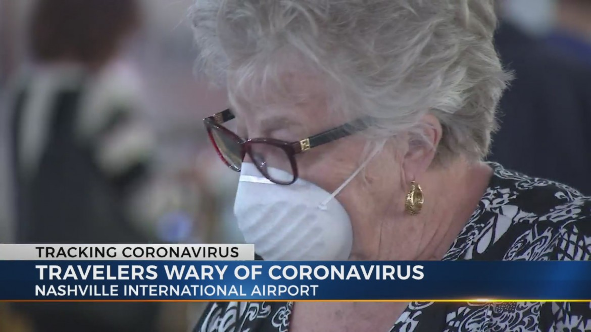 Travelers at BNA Take Extra Precautions Against Coronavirus